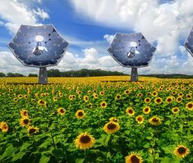 向日葵盘——发电和淡化饮用水两用的神器