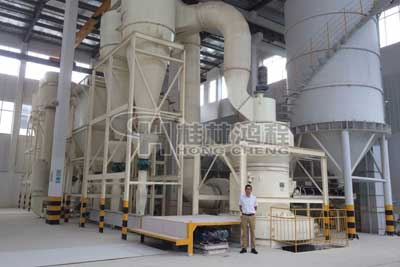 湖南岳阳市伊利石磨机250目磨粉机,环辊磨机生产厂家