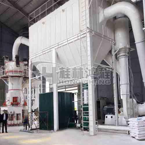 桂林鸿程硅灰石HLMX超细立式磨粉机钾矿石立磨机