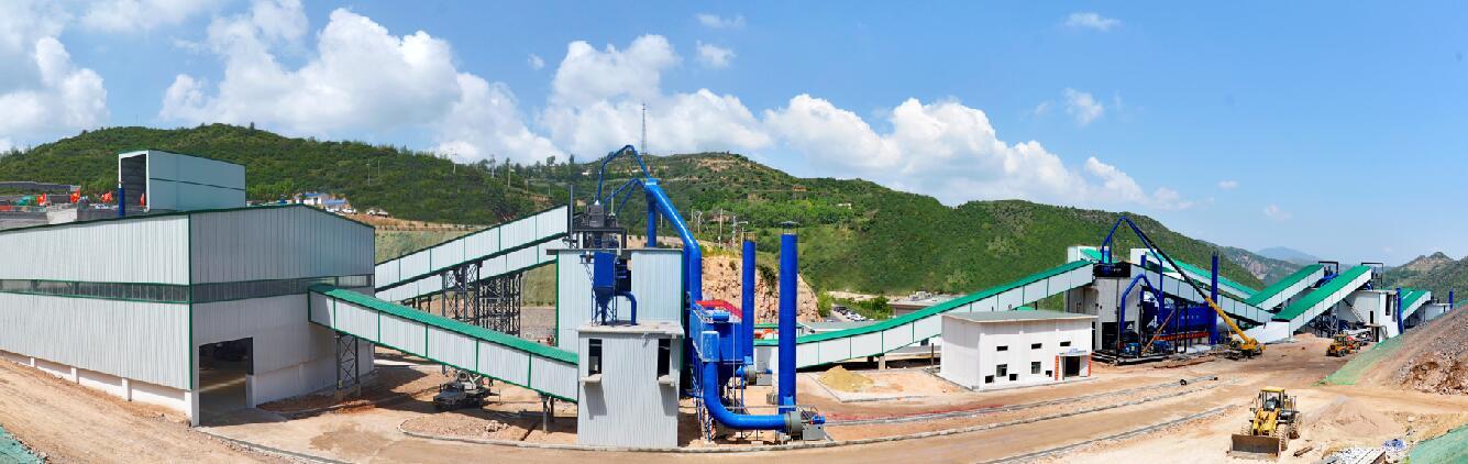甘肃平凉市年产400万吨石灰石生产线建成调试!