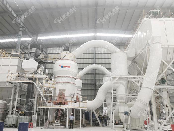 鸿程HLMX1300矿渣莱歇立磨硅灰石2000目超细粉立式磨粉机