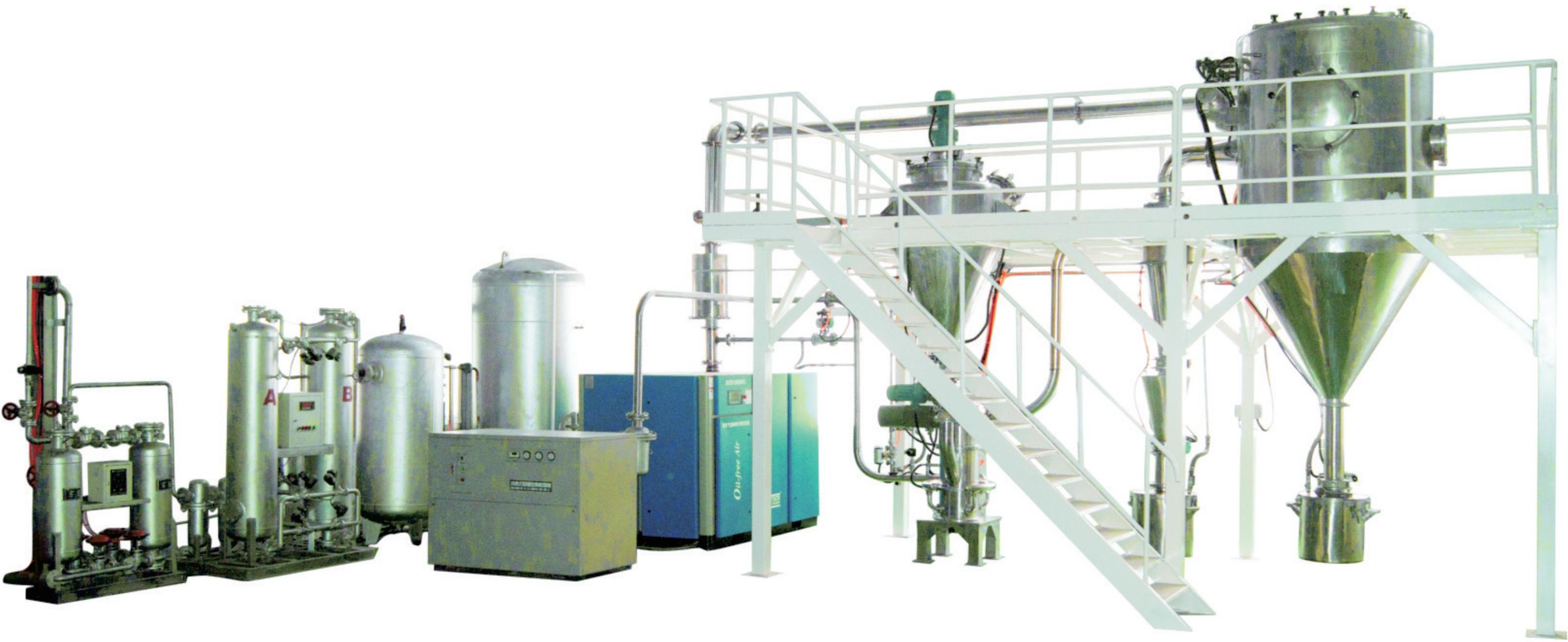 一款惰性气体保护气流粉碎机(安全防爆型)