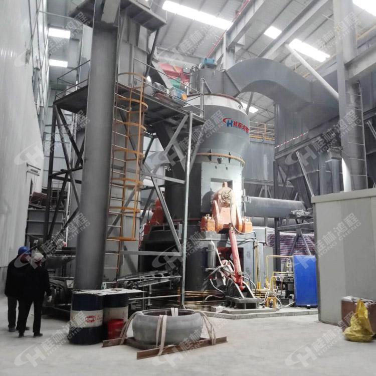 重晶石粉矿立磨 国产大型立磨 鸿程HLM1700立式磨粉机