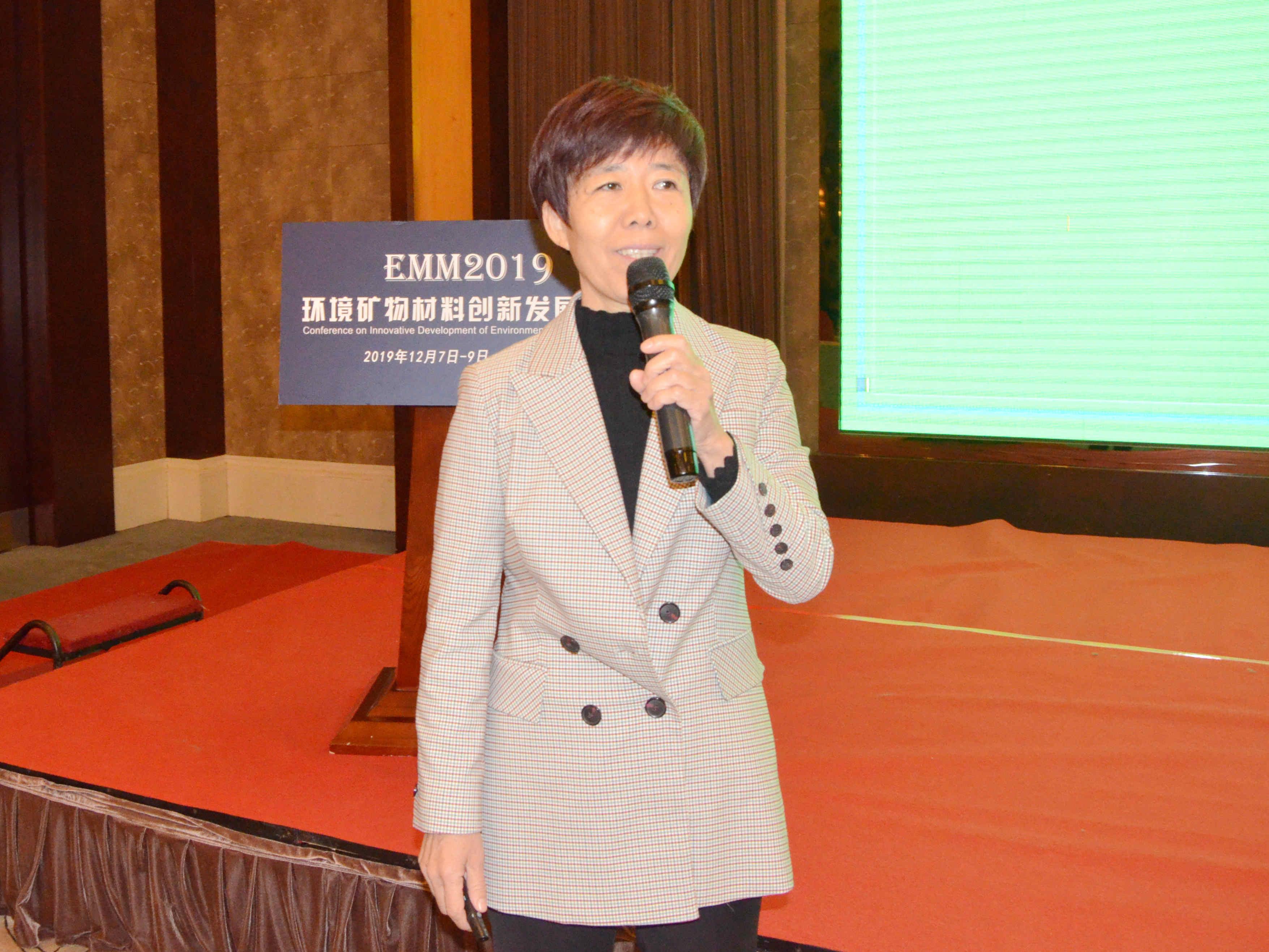 中国地质大学(北京)教授张泽朋作《环境吸附材料:穿上网袋膨润土颗粒的制备及应用》专题报告